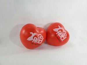 2 Love Heart Shaped Anti-Stress Reliever Ball Stressball Relief Arthritis FYNITE