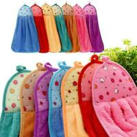 Absorbent Soft Microfiber Hanging Kitchen Bathroom Dry-Towel-New Face Hand A3I8