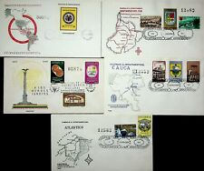 COLOMBIA 1960-62 INDEPENDENCE 12v ON 5 MAP ILLUSTRATED FDC