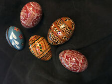 Vintage hand painted wood Easter Eggs Swedish German czechoslovakian czech