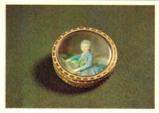 Russian postcard SNUFF BOX Portrait Catherine the Great Rus/Eng captions