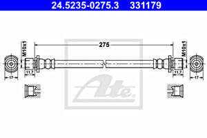 ATE Brake Hose For TOYOTA Corolla Hilux VII 90080-94029