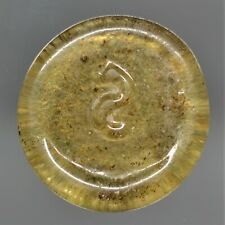 More details for a rare & beautiful yellow byzantine glass weight. circa, ad 600-650. e.f.