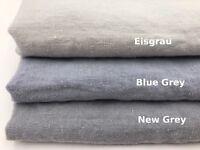 """Natur Leinen Bettwäsche: 1 Kopfkissenbezug 40 x 80 cm """"Stonewashed"""", Blue grey"""
