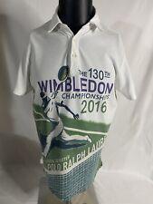 Polo Ralph Lauren 130th Wimbledon Tennis Polo Shirt 2016 Graphic Rare Medium