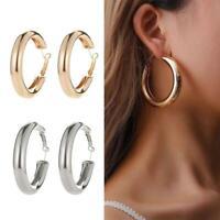 Fashion Circle Geometric Metal Earring Ear Hoop Earrings Women Jewelry Gift