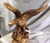 Large Patriotic Majestic Landing Bald Eagle Statue Figurine