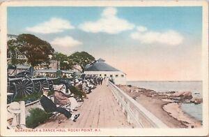 WB C.H. Sedden postcard, cars cannons, Boardwalk & Dance Hall, Rocky Point, RI