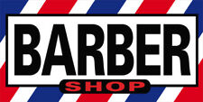 12x6 Inch Barber Shop Sticker Sign Store Window Decal B02