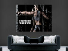 SEXY GIRL HOT GYM  POSTER FITNESS MOTIVATIONAL QUOTE ART WALL LARGE IMAGE GIANT