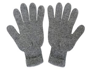 Very Warm Soft 100% Yak Wool Gloves Gray,1 pair.Made in Mongolia.