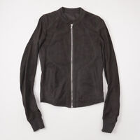 c1a970edf NWT $2850 RICK OWENS Blistered Suede Intarsia Jacket in Darkdust Eu 46 (XS)