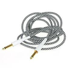 3M/10FT Cloth Braided Tweed Electric Box Piano Guitar Cable Cord US PC0S