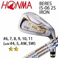2-STAR HONMA GOLF JPN BERES IS-06 IRON SET #6,7,8,9,10,11 ARMRQ X 2018 091802