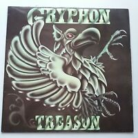 Gryphon - Treason Vinyl Album LP UK 1st Press 1977 Harvest Prog + Inner