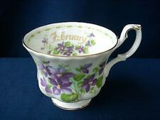 Royal Albert Bone China Flower of the Month Purple Violets FEBRUARY Cup Teacup
