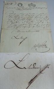 Rechnungs-Direktorium Vienna 1838: Bestallung Handschke (Prague) / Anton V.