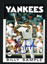 Billy Sample #533 signed autograph auto 1986 Topps Baseball Trading Card