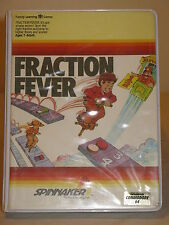 Fraction Fever Tested Game C64 & 128 cartridge by Spinnaker for Commodore RARE
