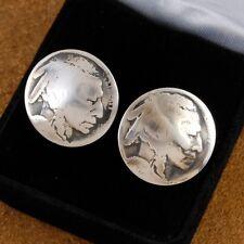 Navajo Made Buffalo Nickel Indian Head Cuff Links