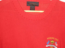 US RYDER CUP USA RED COTTON ANTIGUA EMBROIDERED LOGO GOLF SWEATER-MINT! -L