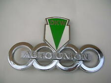 DKW AUTO UNION  EMBLEM BADGE PLASTIC NEW !!!!!!!!!!