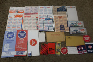 lot of Missouri Pacific Railroad advertising/logos/ephemera/timetable/tickets