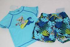 Gymboree Baby Boys Boy Swim Suit Bottoms Trunks Rash Top NWT Size 12-18 Months