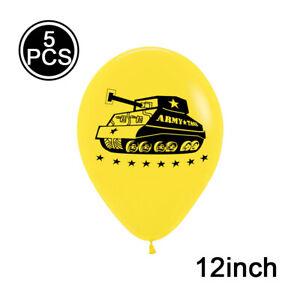 5/10/16 Pcs 12'' Military Camouflage Latex Balloon Set Birthday Party Decor ty