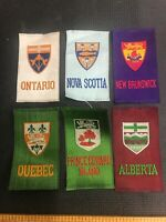 1880-1910 Places Quebec Ontario Silk Lot Of 6  Pennant Ribbon Badge Banner B-2