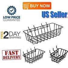 3 Pack Peg Board Wire Basket Organizer Storage Set Small Medium & Large NEW US