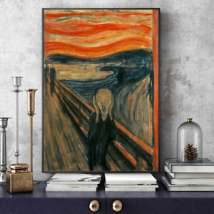 Edvard Munch The Scream Famous Canvas Art Paintings Reproductions Abstract Class