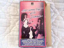 A HOT SUMMER NIGHT WITH DONNA VHS LIVE IN CONCERT 1983 TOUR DISCO MUSICAL YOUTH