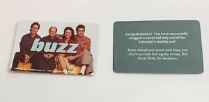 Seinfeld 2008 Scene It DVD Game Replacement Parts: Complete Set of 10 Buzz Cards
