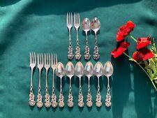 14 Piece ALBERT BODEMER Hildesheimer Rose Demitasse Spoons & Dessert Forks
