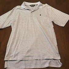Polo Ralph Lauren Blue Polo Shirt Mens Size Med Medium Striped