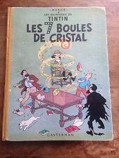 les 7 boules de cristal B12 (1955) les av de tintin Hergé  côte BDM : + 150e