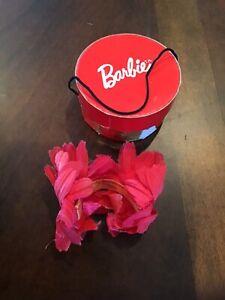 """Rare! Darling! VHTF Original Vintage Barbie #916 Commuter Set Hat & """"TM"""" Hatbox"""