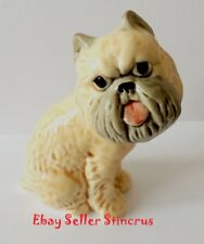 Brussels Griffon figurine dog. Author's Porcelain figurine + Gift Box. NEW