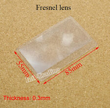 10PCS Portable Credit Card 3X Magnifier Magnifying Magnification Fresnel Lens IG