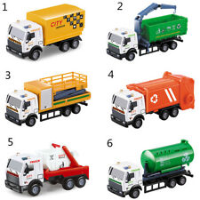 Newest 1:43 Racing Bicycle Truck Toy Carrier Vehicle Garbage Truck Diecasts HC