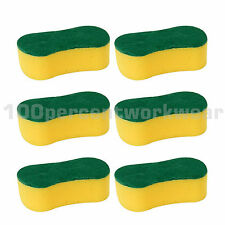 6 x Large Decorators General Purpose Cleaning Foam Sponge with Abrasive Back New