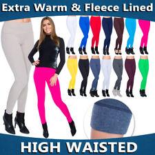 Womens Winter High Waist & Classic Leggings Fleece Lined Plus Sizes 8-30 LWPP28
