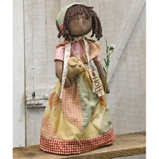 """Hope Doll w Mouse  Country Farmhouse  Primitive Decor 18"""" New Hearthside"""