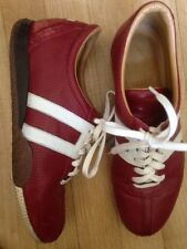 women's Rare Vintage Bally Free - M Red and White Leather Sneakers - Size 39