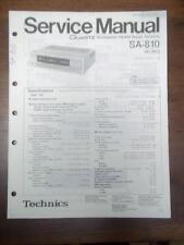 Technics Service Manual for the SA-810 Receiver~Repair~Original