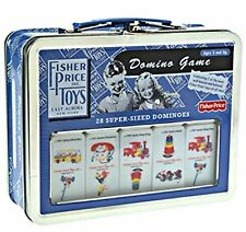 Domino Game The History of Fisher-Price Toys 28 Super Sized Dominos in Tin Case
