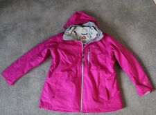COLUMBIA WINTER COAT JACKET INTERCHANGE WOMEN'S PLUS 1X MAGENTA