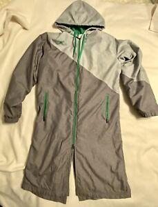 Speedo Gray Green Parka Unisex Water Polo Swim M Event Jacket Post Event Hood