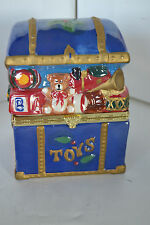 Lusterware Musical Animated Toy Box Mr Christmas Music Box